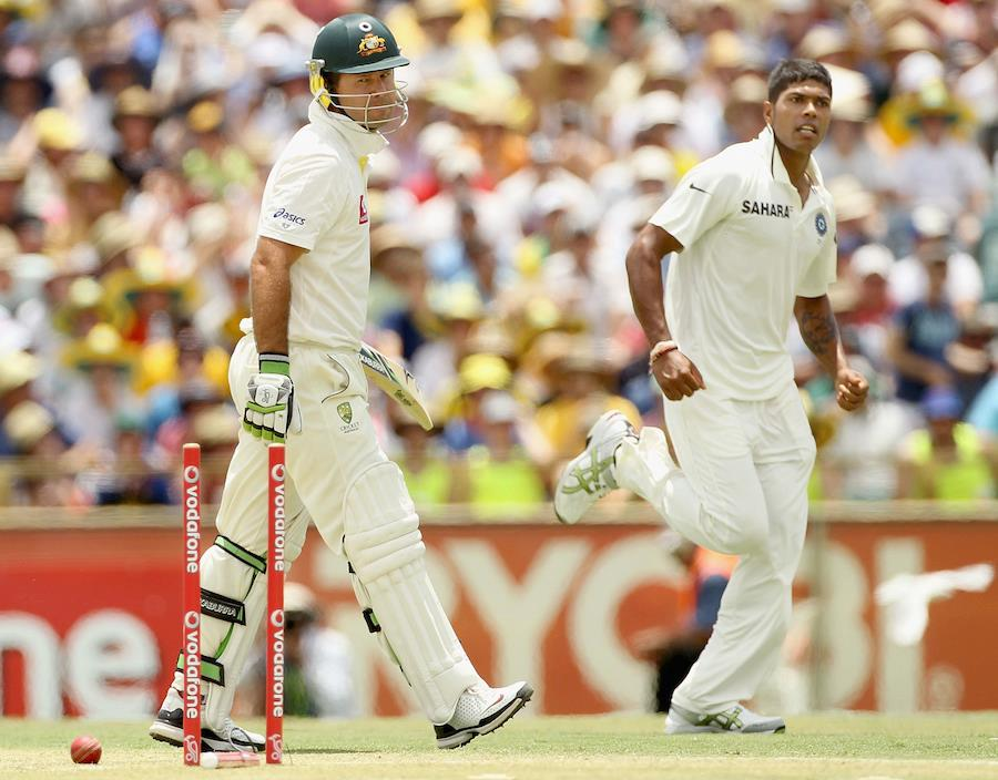 Umesh Yadav took the big wicket of Ricky Ponting - Team Umesh