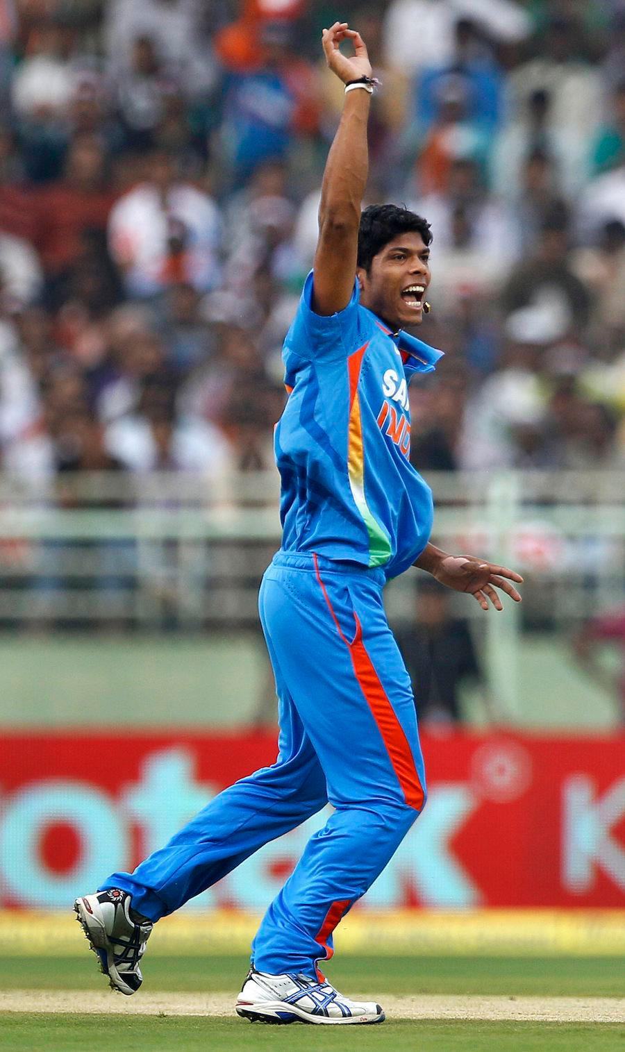 A delighted Umesh Yadav after getting a wicket. -Team Umesh