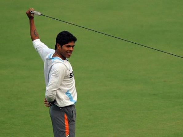 Indian pacer Umesh Yadav during a practice session ahead of the ODI Series against West Indies. -Team Umesh