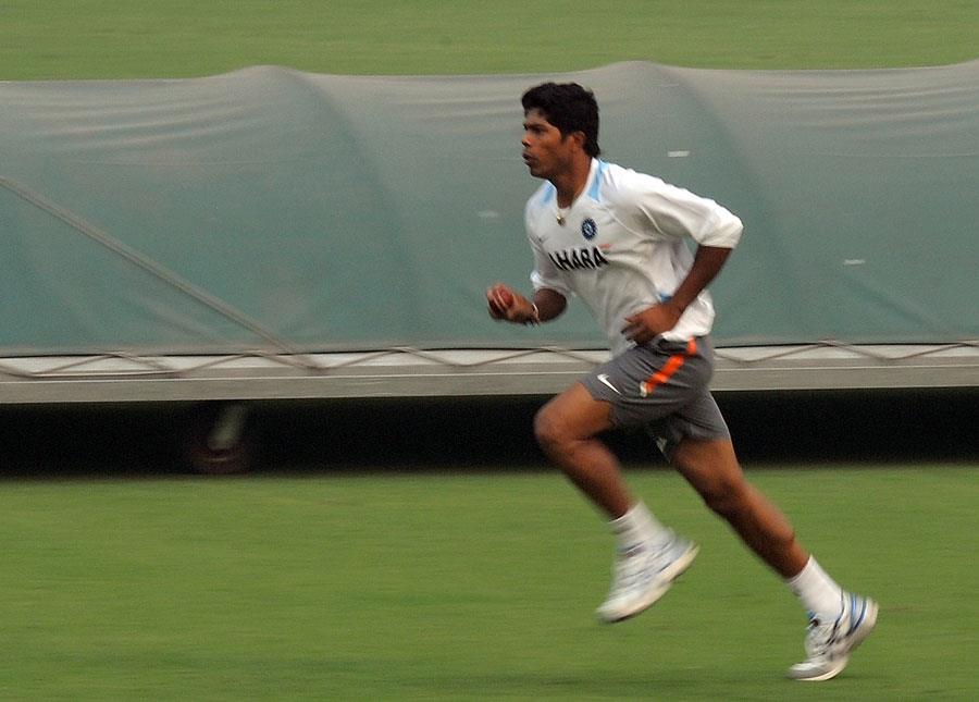 Umesh Yadav during the practice session ahead of first Test against West Indies. -Team Umesh