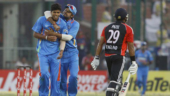 Umesh Yadav took  important wickets of Kevin Pieterson and Samit Patel in the nd successive win for India. - Team Umesh