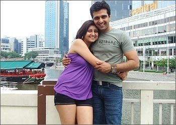 Juhi Parmar with partner