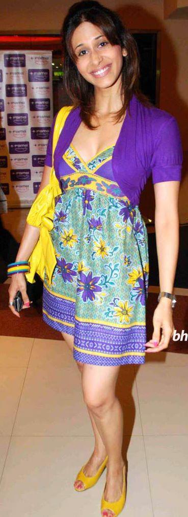 Kishwer Merchant in Purple Dress