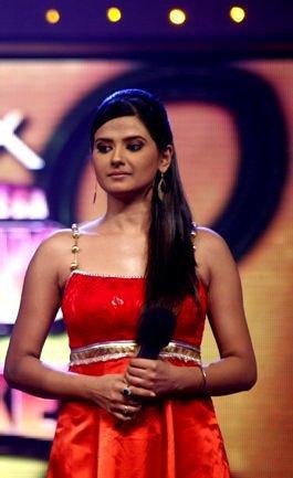 Kratika Sengar in Red gawn