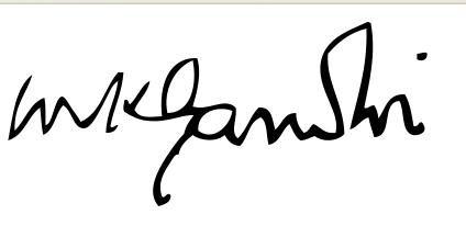 Mahatma Gandhi Signature