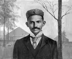 Mahatma Gandhi is Soth Africa