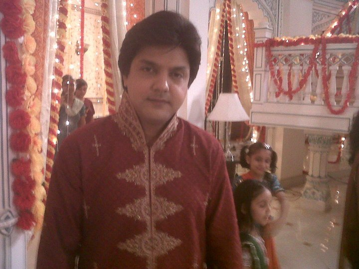 In Red Shervani At the Function