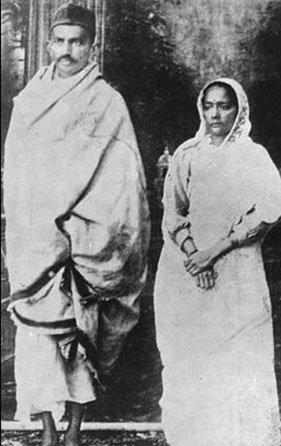Gandhi and Kasturbha