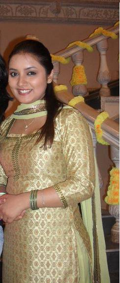 In Golden Salwar Suit