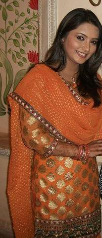 In Orange Salwar Suit