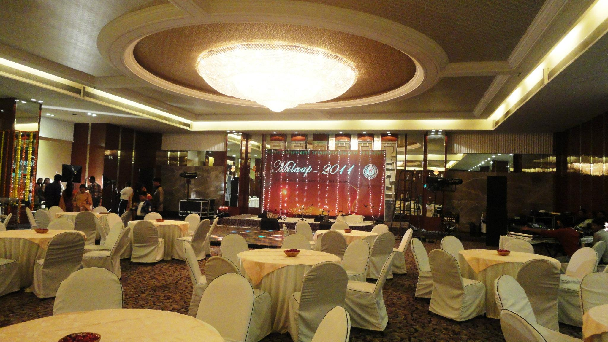 Set up for Ghazal night followed by DJ- New Banquet hall of hotel Centre Point, Ramdaspeth, Nagpur.
