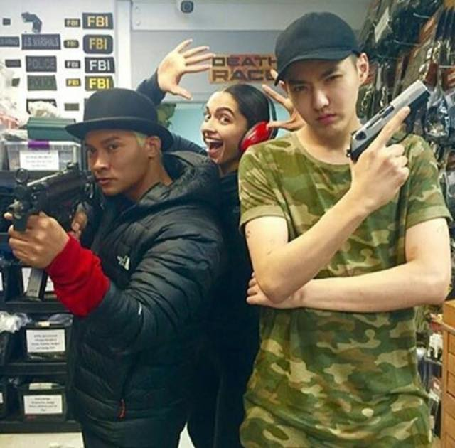 Deepika Padukone is having fun on the sets of XXX The return of Xander cage