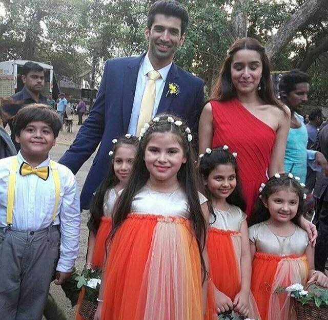 Aditya Roy Kapoor and Shraddha Kapoor during a song shoot at Afghan church for OK Janu