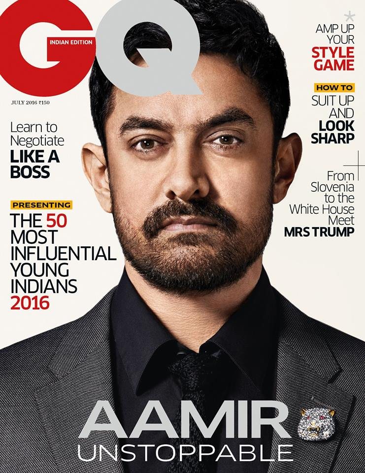 Aamir Khan On The Cover Of GQ Magazine India July 2016