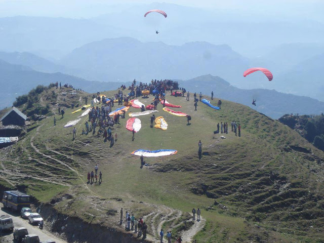 Paragliding at Billing, Bir, Mandi