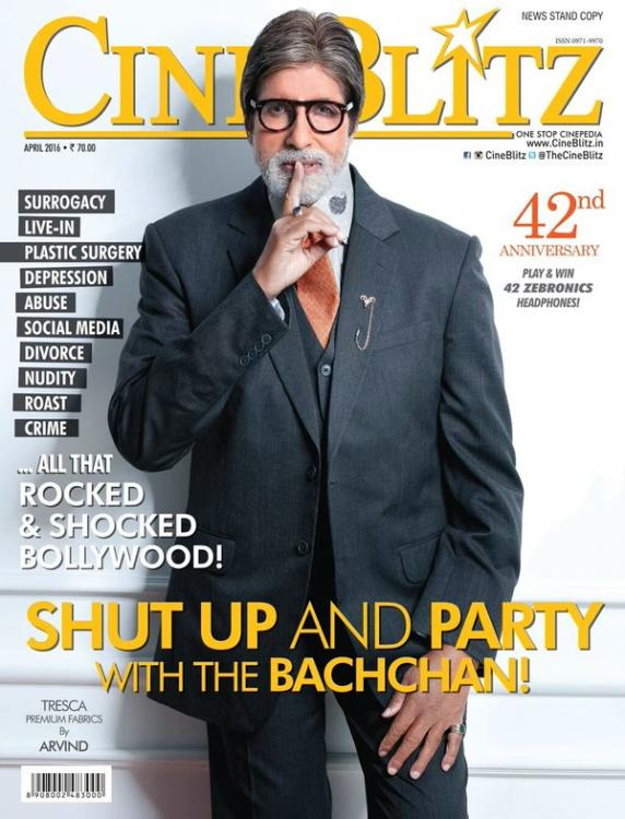 Amitabh Bachchan On The Cover Of Cineblitz Magazine India April 2016
