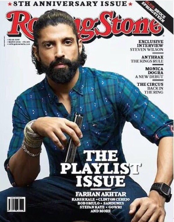 Farhan Akhtar On The Cover Of Rolling Stone Magazine India March 2016