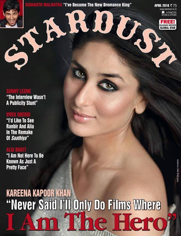 Kareena Kapoor On The Cover Of Stardust Magazine India April 2016