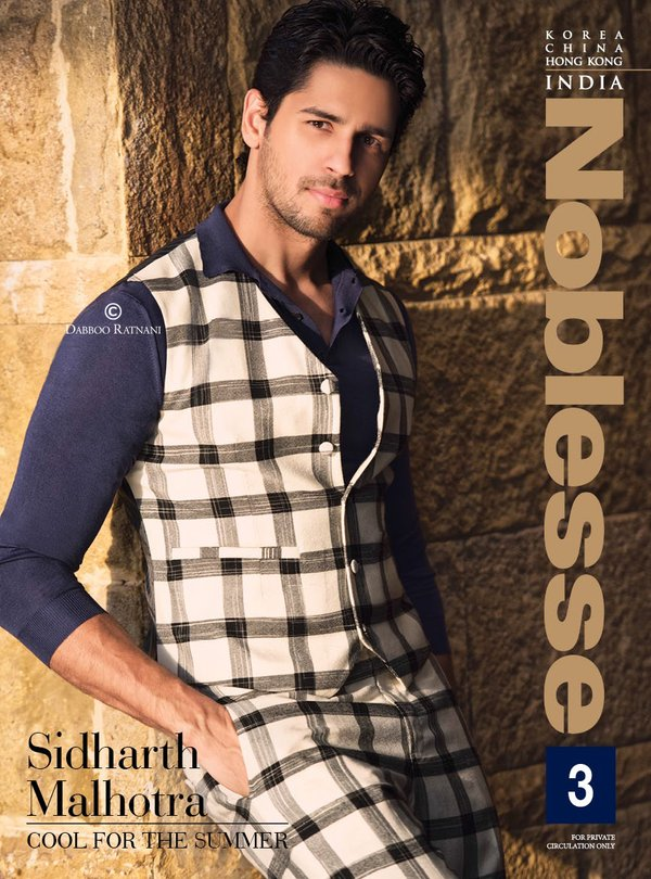 Siddharth Malhotra on the cover of Noblesse Magazine India April 2016