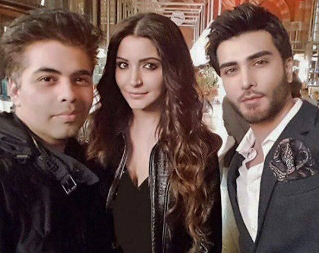 Karan Johar, Anushka Sharma & Imran Abbas on the sets of Ae Dil Hai Mushkil