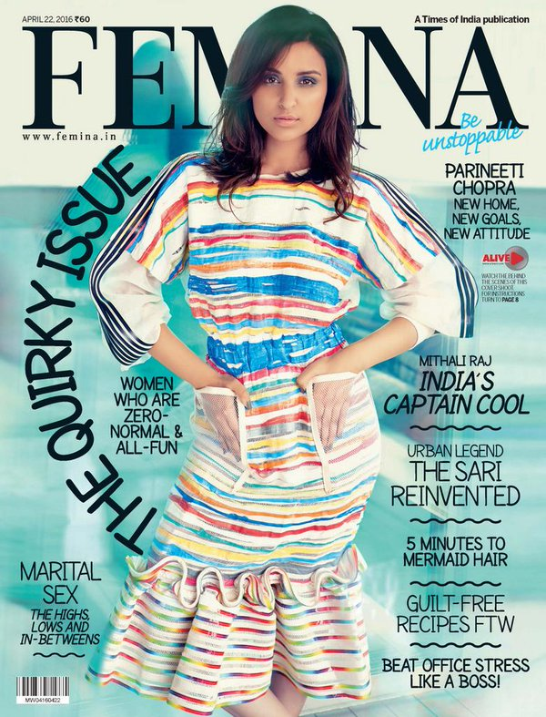 Parineeti Chopra On The Cover Of Femina Magazine India April 2016