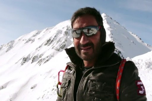 Ajay Devgan selfie on the sets of Shivaay