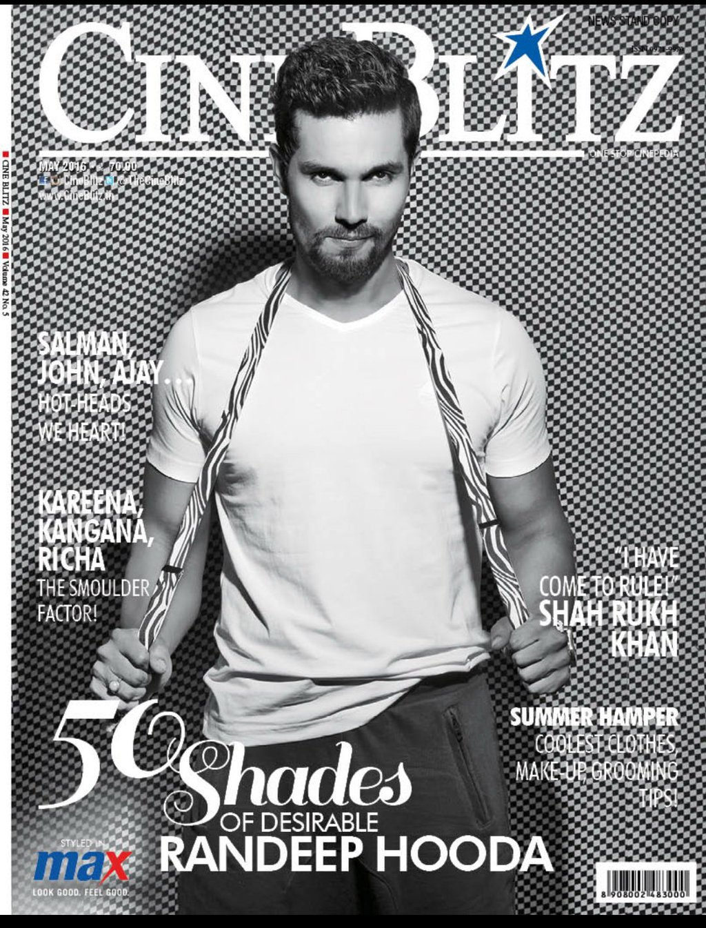 Randeep Hooda On The Cover Of CineBlitz Magazine India May 2016