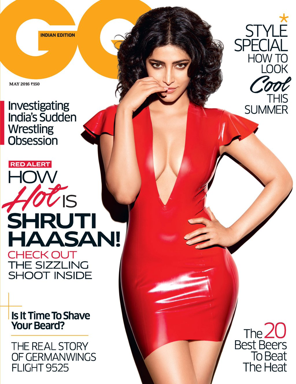 Shruti Haasan On The Cover Of GQ Magazine India May 2016