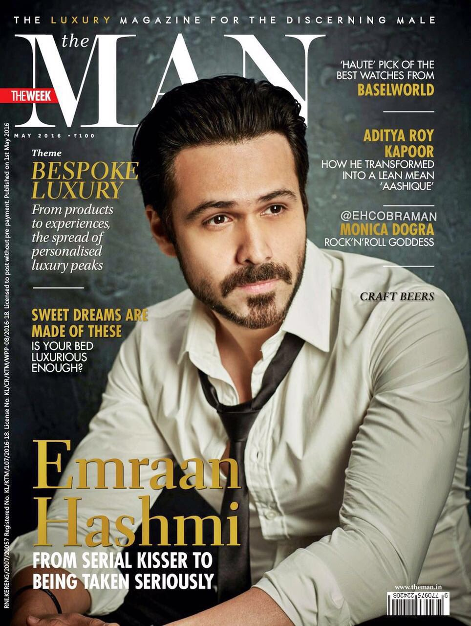 Emraan Hashmi On The Cover Of The Man Magazine India May 2016