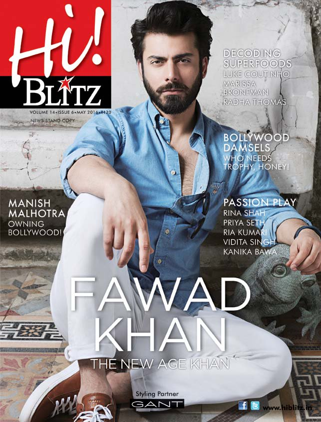 Fawad Khan on the cover of HiBlitz Magazine India May 2016