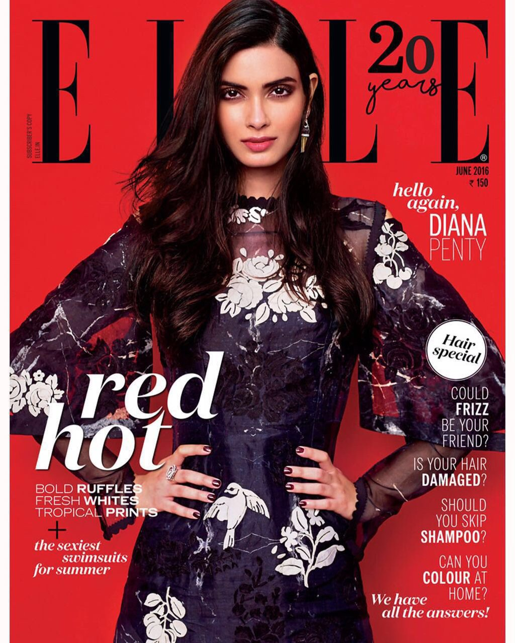 Diana Penty On The Cover Of Elle Magazine India June 2016
