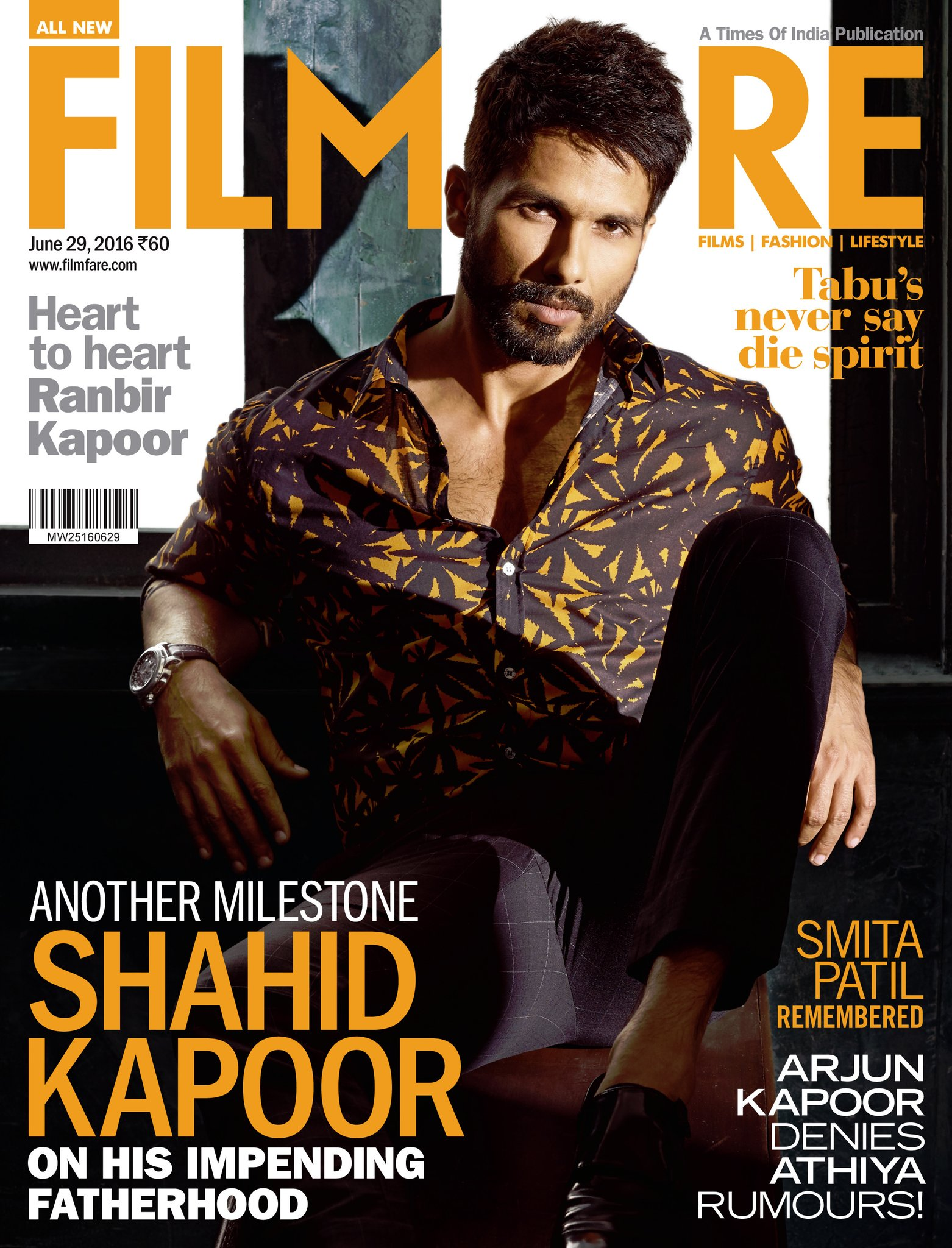 Shahid Kapoor On The Cover Of Filmfare Magazine India June 2016
