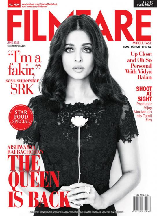 Aishwarya Rai On The Cover Of Filmfare Magazine India June 2016
