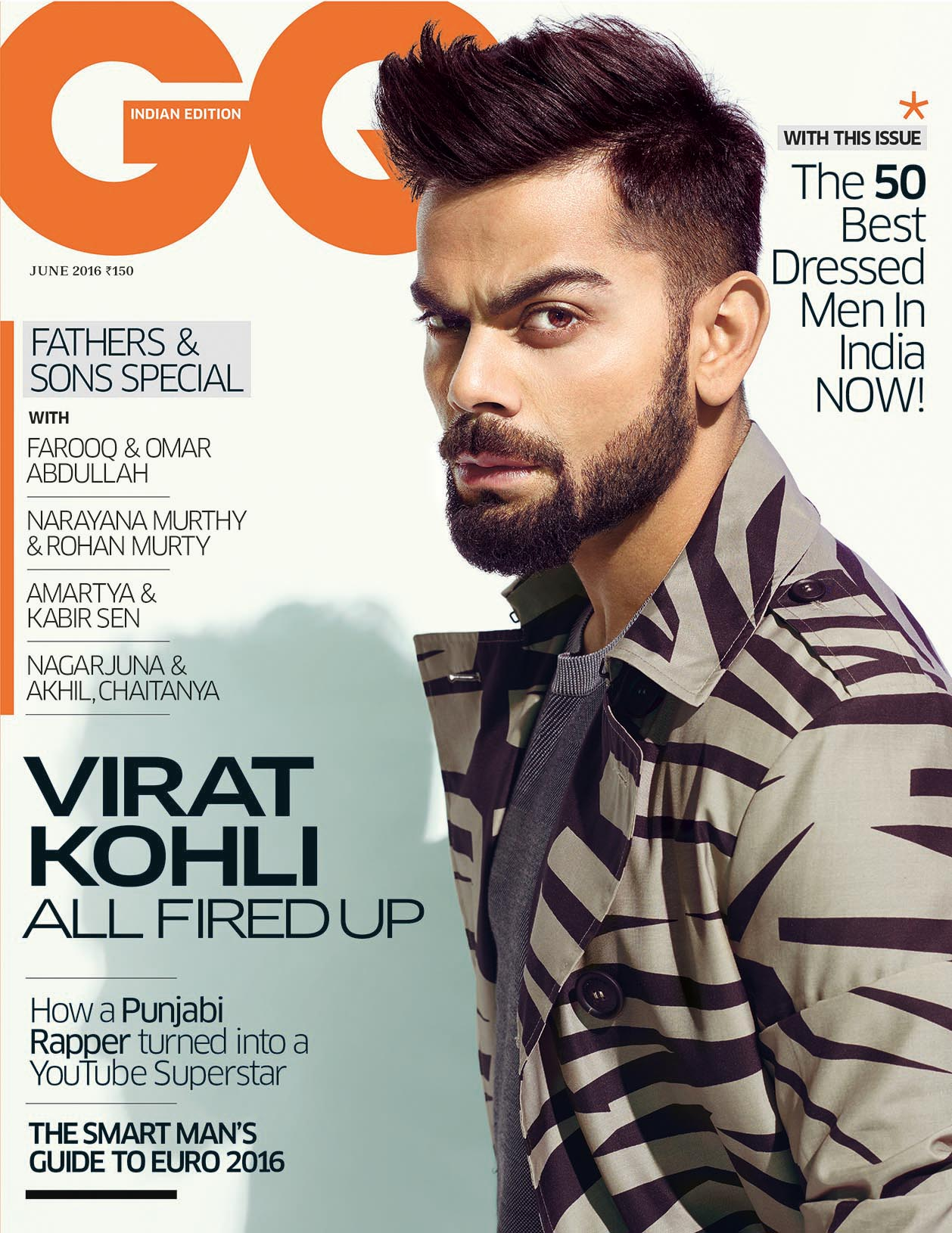 Virat Kohli on the cover page of GQ India magazine June 2016