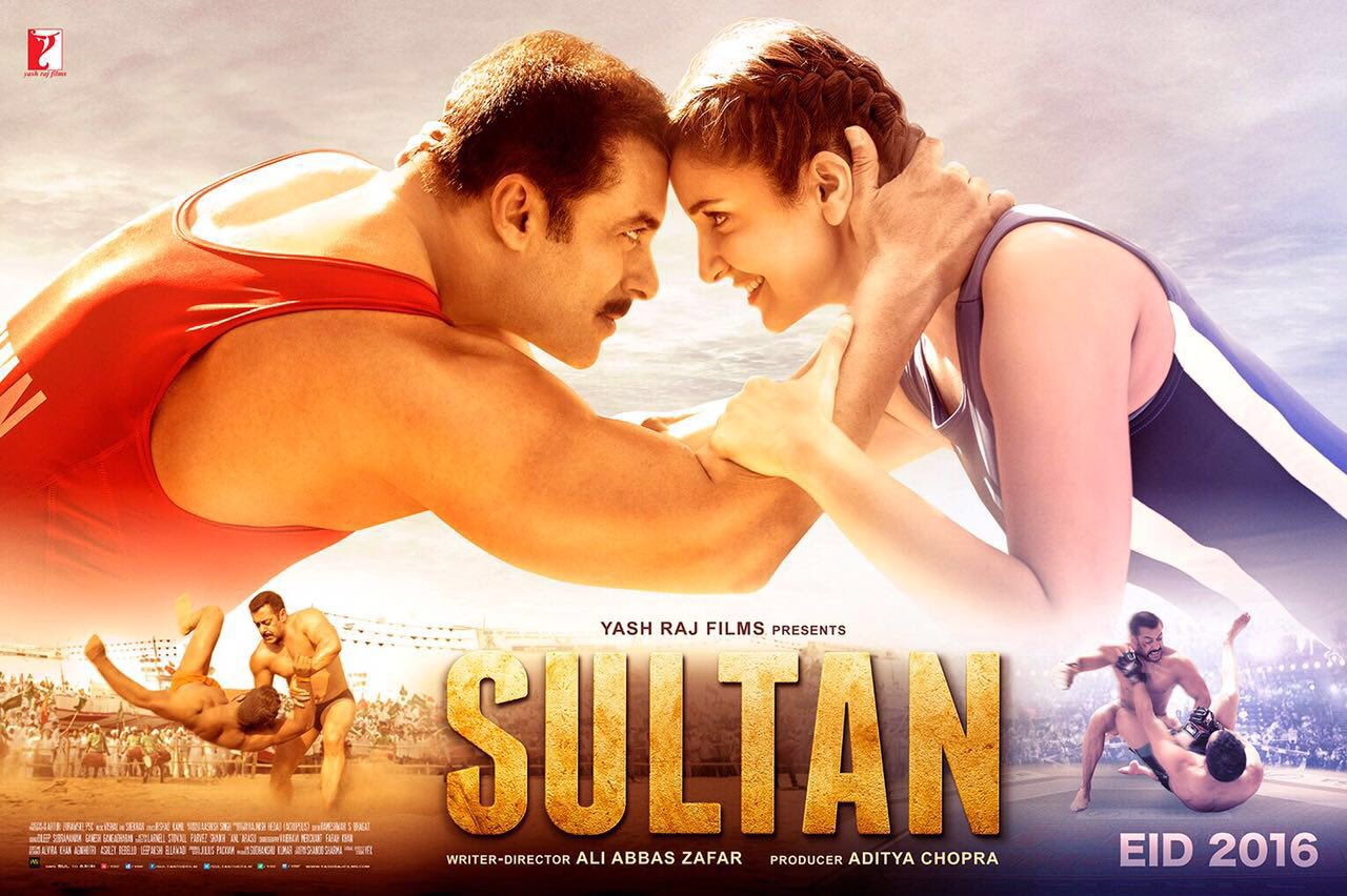 Salman Khan and Anushka Sharma's Sultan Movie Poster