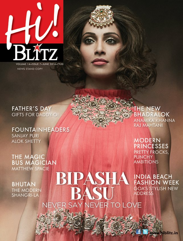 Bipasha Basu On The Cover Of Hi Blitz Magazine India June 2016