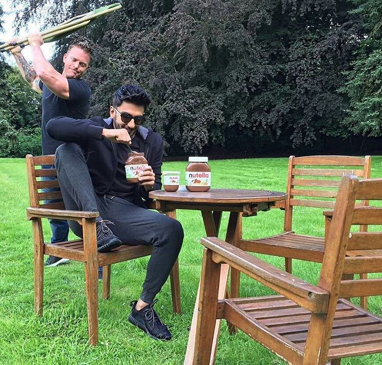 Ranveer singh caught cheating on his diet by his trainer