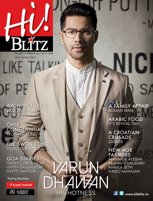 Varun Dhawan On The Cover Of HiBlitz Magazine India July 2016