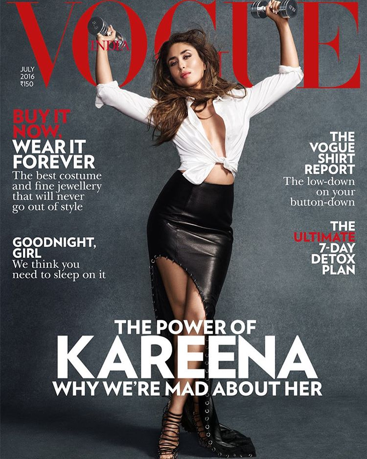 Kareena Kapoor On The Cover Of Vogue Magazine India July 2016