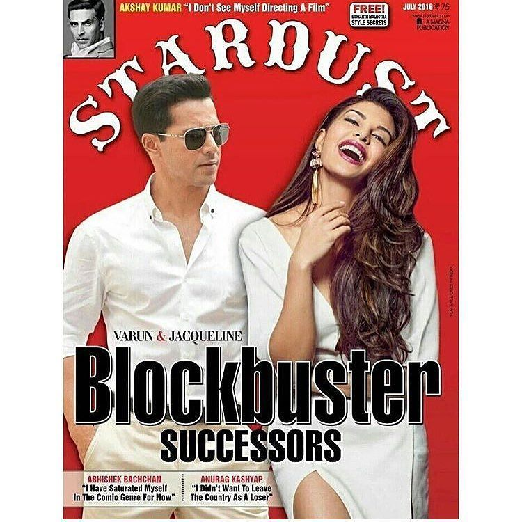 Jacqueline Fernandez and Varun Dhawan On The Cover Of Stardust Magazine India July 2016