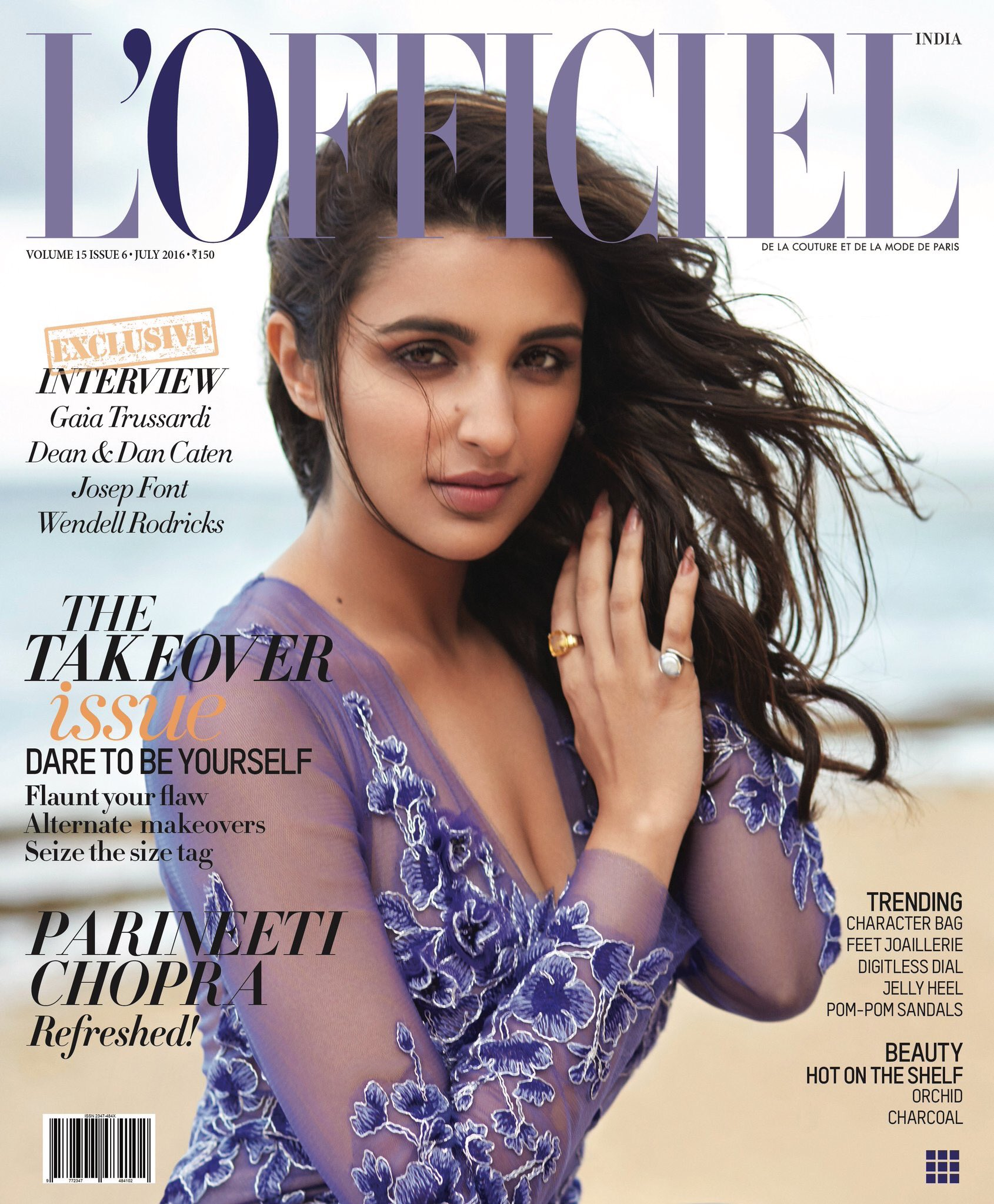 Parineeti Chopra On The Cover Of LOfficiel Magazine India July 2016