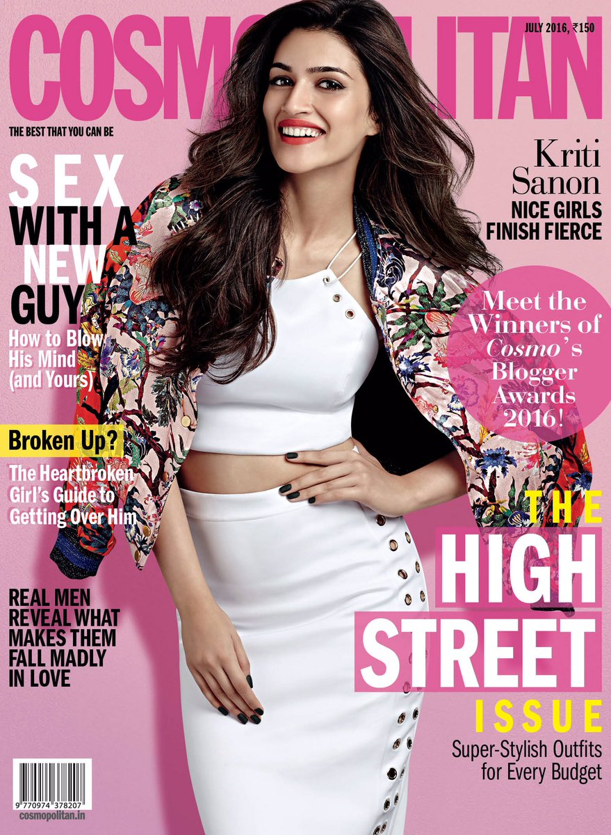 Kriti Sanon On The Cover Of Cosmopolitan Magazine India July 2016