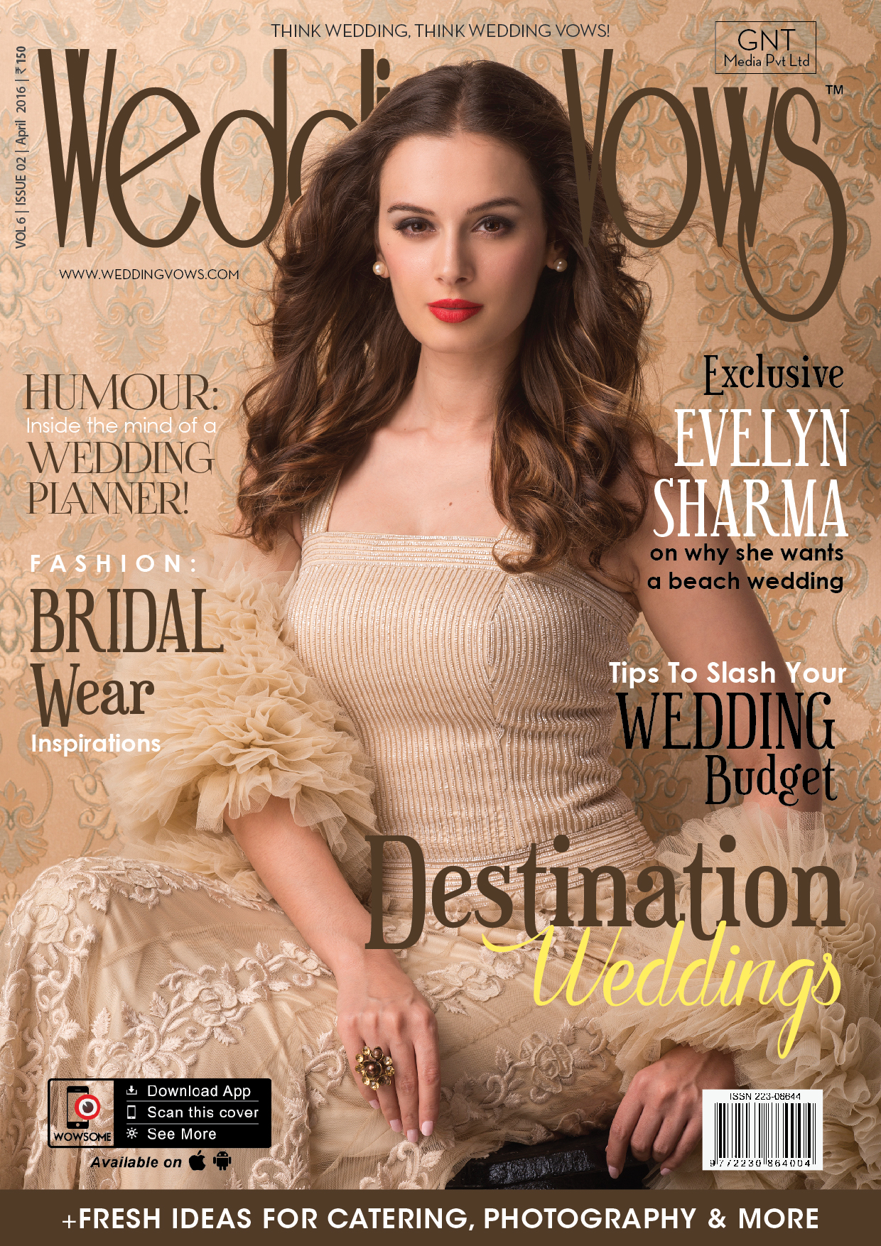 Evelyn Sharma On The Cover Of Wedding Vows Magazine India April 2016