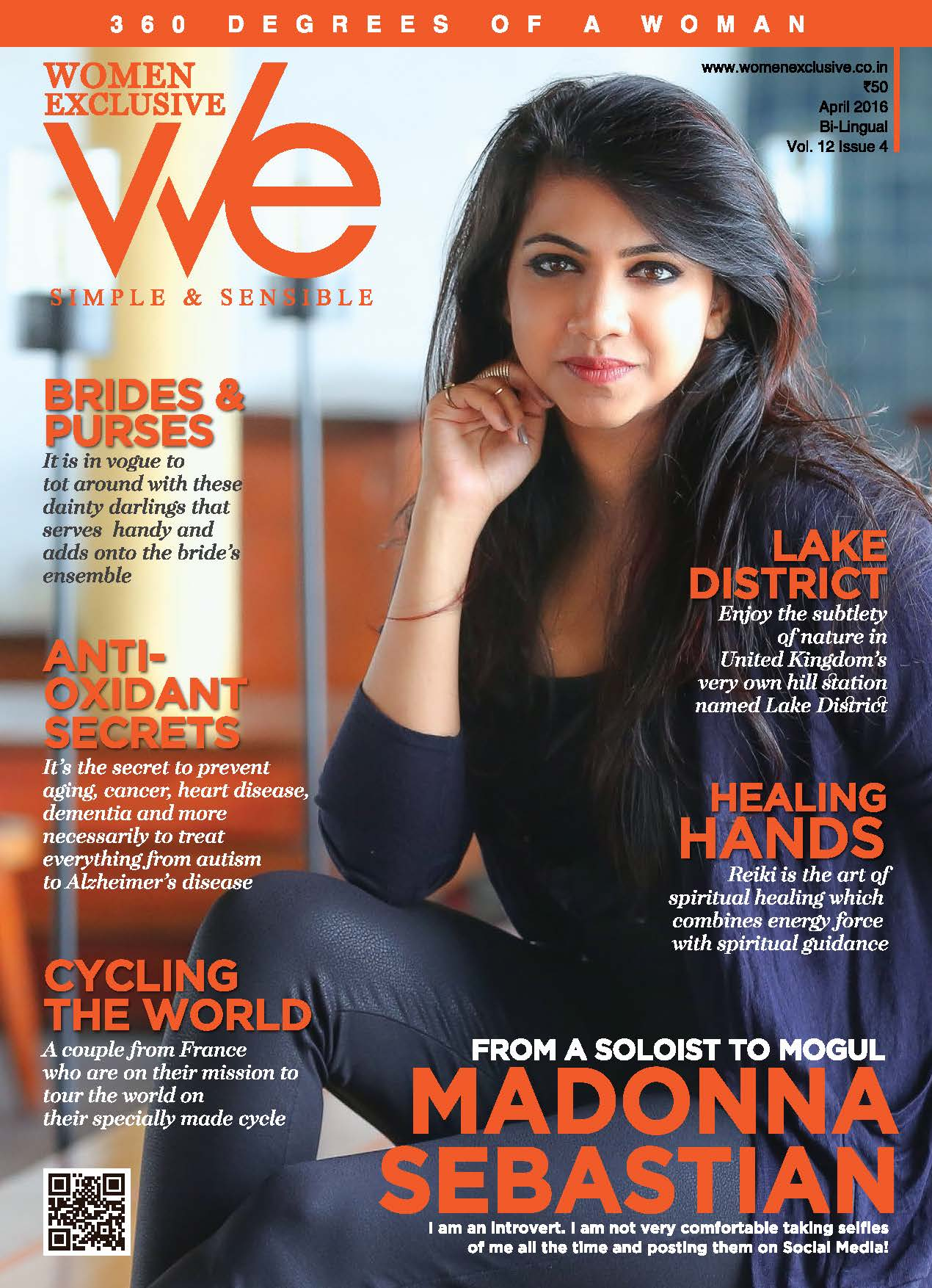 Madonna Sebastian On The Cover Of Women Exclusive Magazine India April 2016