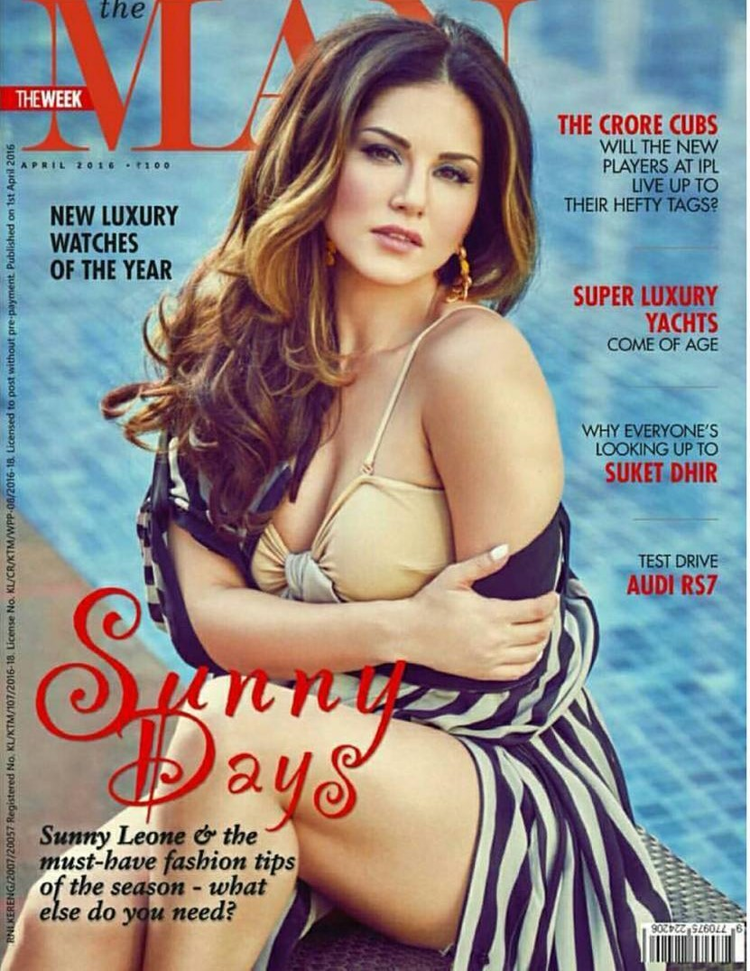 Sunny Leone On The Cover Of The Man Magazine India April 2016