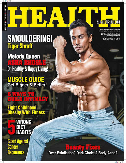 Tiger Shroff On The Cover Of Health and Nutrition Magazine India June 2016