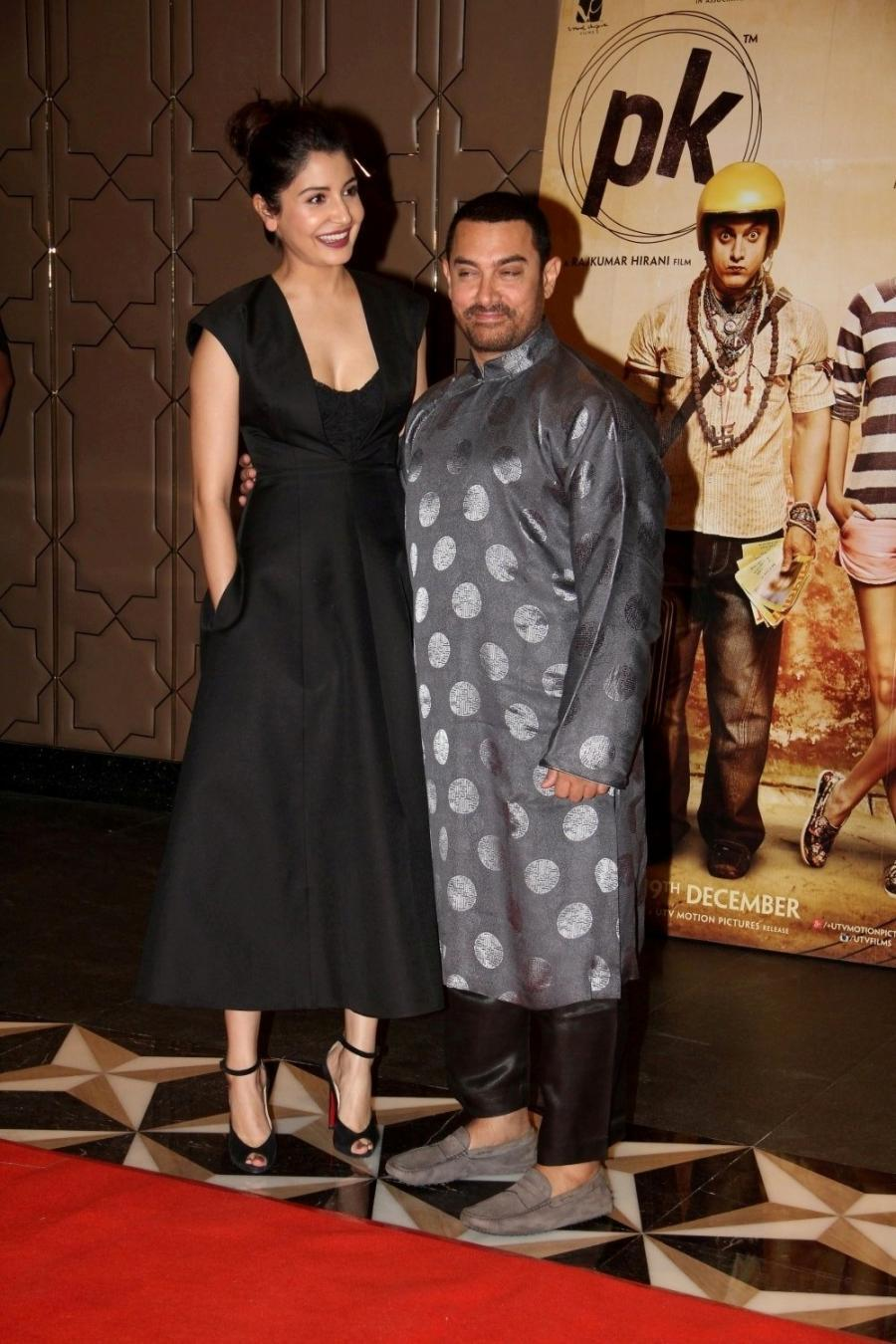Aamir Khan & Anushka Sharma at Success Party of PK Movie in Mumbai