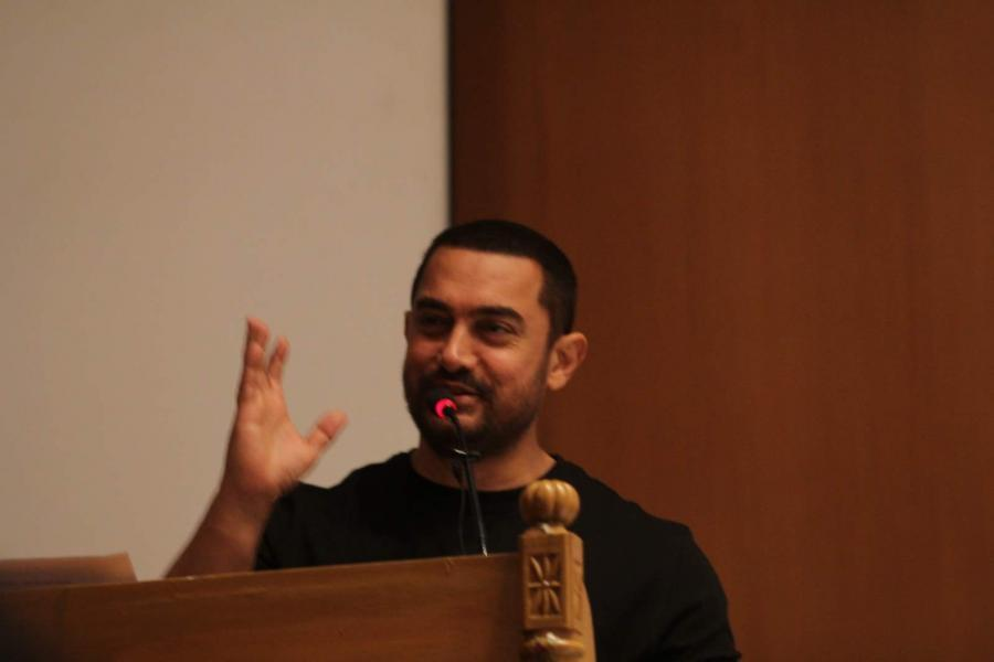Aamir Khan Attends The Launch Of Swachhata Saptapadi Scheme
