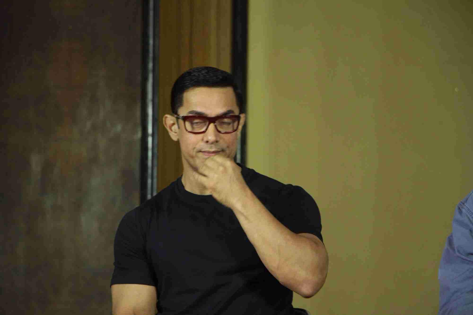 Aamir Khan at the Poster launch of film DANGAL