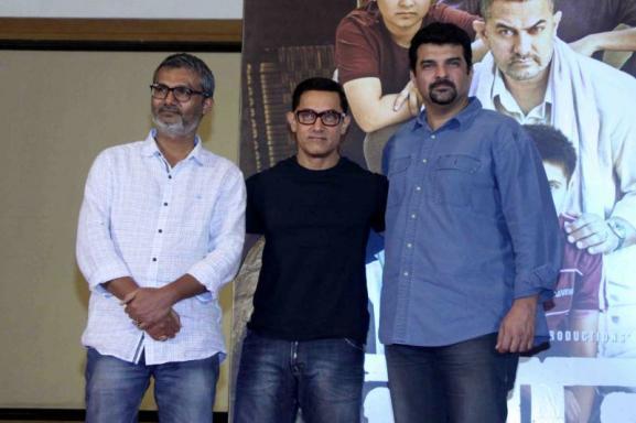 Nitesh Tiwari, actor Aamir Khan and Siddharth Roy Kapur